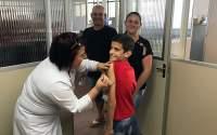Em Santo Antônio do Planalto, Evandro Danielli esteve na Unidade com a esposa Andréia e com o filho