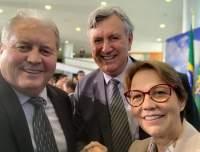 Nei Manica e a ministra da Agricultura, Tereza Cristina